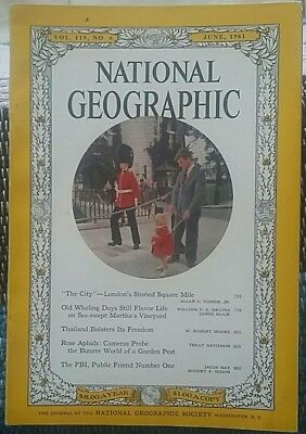 National Geographic magazine June 1961