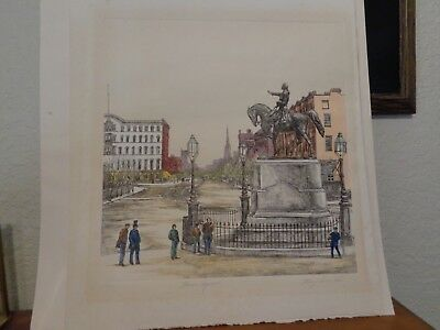 Mary Ann Lis Signed Color Etching