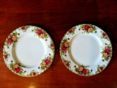 Royal Albert Old Country Roses Bone China 1962 Des- Tea / Coffee Set Side  Plate