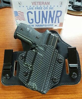 Fits Springfield Models Iwb & Owb Hybrid Holster Kydex / Leather Tuckable  Ccw