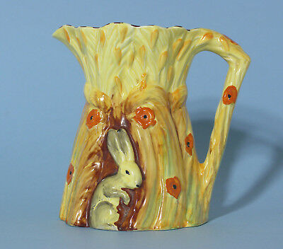"Large Vintage Art Deco Burleigh Ware ""Rabbit in the Hay"" Jug / Pitcher"