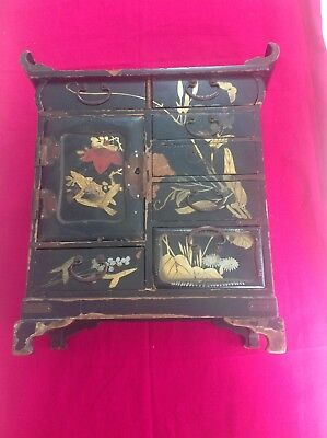 Antique Japanese Lacquered Trinket Box