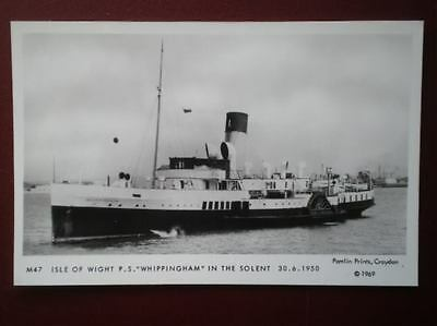 Postcard Rp Isle Of Wight Paddle Steamer 'whippingham' 1950
