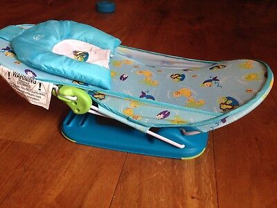 Summer folding Baby Bath Seat with head support, suitable form newborn