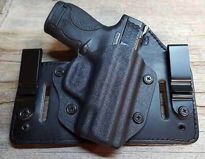 Fits Ruger, Taurus Models  Iwb & Owb Tuckable Hybrid Holster Kydex /leather Ccw