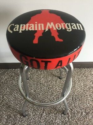 "Captain Morgan 29"" Bar Stool Got A Little Captain In You? Black & Red Used"
