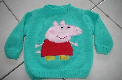 Pull  Tricote Main Peppa Pig Taille 1 Ans