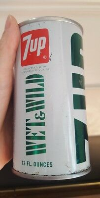 Vintage 7-UP Uncola WET AND WILD Unopened Pull Top Soda Pop Can Empty FREE S/H
