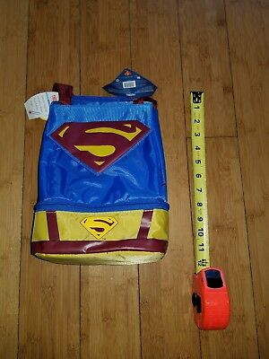 Superman Lunchbox by Thermos,  front and bottom storage w/ cape 1H Free Shipping