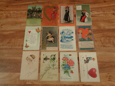 ANTIQUE Early 1900's Postcard Lot of 23 Valentine's Day