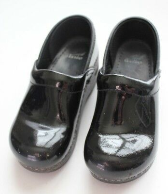 DANSKO Girl's Black Patent Leather Clog Shoes Size 31 / US 13
