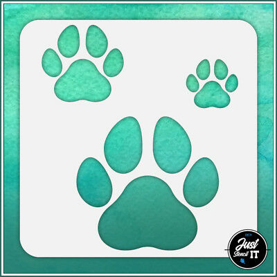 DOG PAW BONE Pattern #2 - durable and reusable stencil for DIY