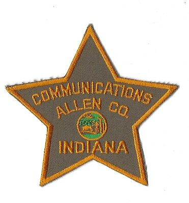 "Allen County IN Indiana Police Fire ""COMMUNICATIONS"" patch - NEW! *Cloth Back*"