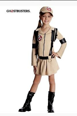 Girls GHOSTBUSTER 80s Ghostbusters Halloween Kids Dress Costume Size Small 4-6
