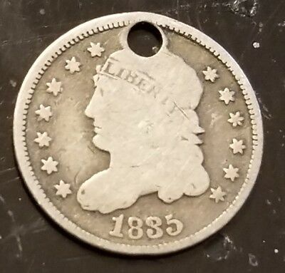 1835 Capped Bust Half Dime Nice Early US Silver 5c H10c 90% Silver