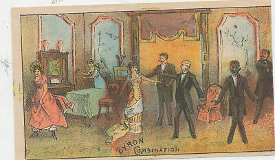 C8748  Victorian Trade Card Byron Combination  Funniest Play In World