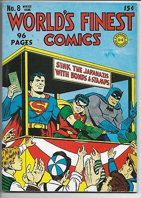 World's Finest Comics #8 Reprint Edition Japanazi War Cover Batman Superman Vfnm