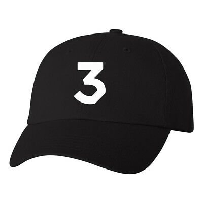 Chance The Rapper 3 Logo Dad Hat Hip Hop Rap Acid Rap merch Dads Ball Cap Black
