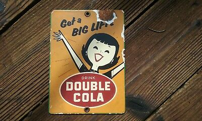 Sign Soda Pop Cafe Parlor Vintage General Store drink double cola
