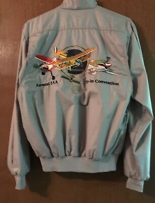 EAA Fly-In Convention 40th Anniversary Embroidered Jacket Adult M New/Never Worn