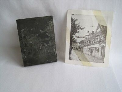 Vintage Bespoke Letterpress Wooden Printing Block From Photo of CWS Exhibition