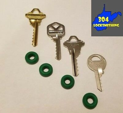 Professional 4 key Depth Key Set (KW1, SC1, SC4, M1) with bump rings