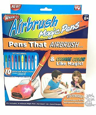 Wham-O Airbrush Magic Pens Craft Art Set Ages 8+ New As Seen On TV