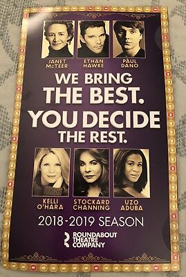 Mailer / Flyer for Roundabout Theatre Company Broadway 2018-2019 season