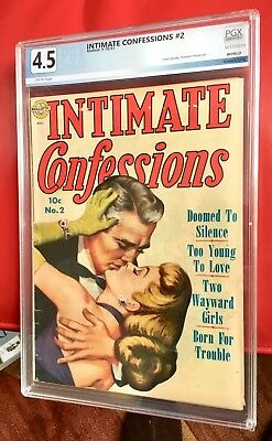 INTIMATE CONFESSIONS 2 PGX not CGC 4.5 CLASSIC OLD/YOUNG ROMANCE Cover!