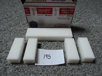 White Plastic assorted Delrin/ Acetal sheet/block lot 5 piece CNC Mill (#195)