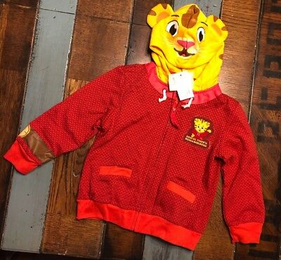 NEW Daniel Tiger Kids Youth Red Jacket Coat Daniel Tiger's Neighborhood Size 5T