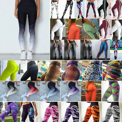 Women Yoga Fitness Leggings Running Gym Sports High Waist Jogging Pants Trousers