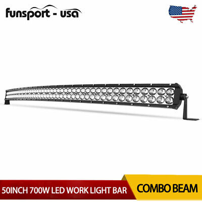 22inch 120W LED Light Bar Spot Flood Combo Amber Offroad Driving Lamp 4WD+Wiring