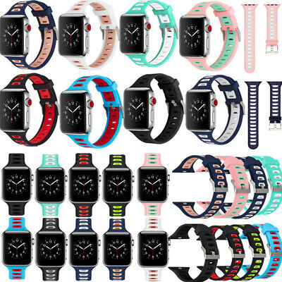 40/44/38/42mm Silicone Bracelet Band Strap For Apple Watch iWatch Series 4/2/3/1