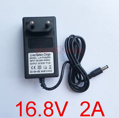 4S 18650 Li-ion LiPo Lithium Battery Pack 16.8V 2A US Plug AC//DC Charger Adapter