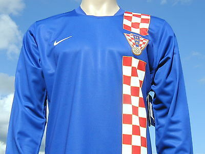 BNWT Rare Croatia International Away LS Retro Player Issue World Cup Shirt XL