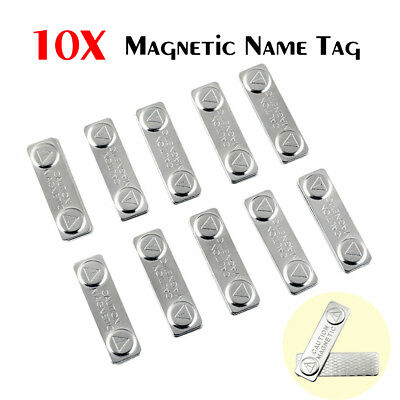 10 x MAGNETIC NAME BADGE TAG ATTACHMENT - SELF ADHESIVE MAGNET - SUPER STRON