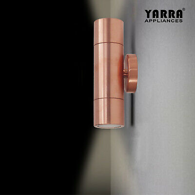Solid Copper Outdoor Wall Sconce Updown Wall Light Exterior Spot Lights IP65