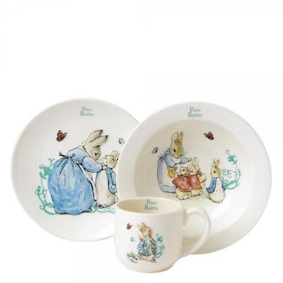 Beatrix Potter Peter Rabbit 3 Piece Nursery Set Baby Gift Idea NEW in BOX A25864