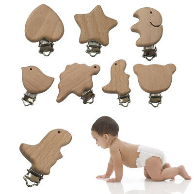 1 Pc DIY Baby Molar Teether Accessories Elm Animal Pacifier Clip Baby Gift