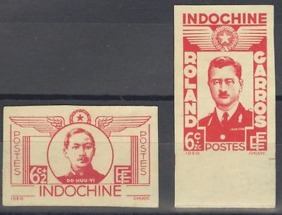 Indochina (*)Yv 274/75. 1943. Serie completa. SIN DENTAR. MAGNIFICA. Yvert 2013
