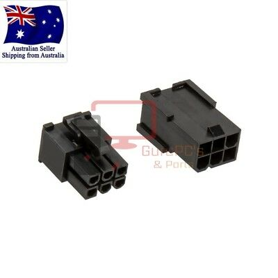 Set of Male & Female 6 PIN VGA/PCI-Express PSU Connectors. With or Without Pins