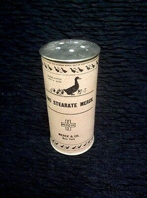 Vintage Container For Zinc Stae rate Merck. Talcum Powder Can