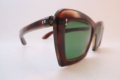 Vintage early 60s sunglasses green glass lenses garage punk rocknrollfrenzy