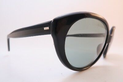 Vintage 60s Safilo sunglasses grey glass lenses womens medium/large Italy ****