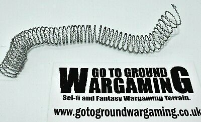 Model Barbed Wire (6ft-30ft) Wargaming and Diorama; coiled trains scenery: 1/36