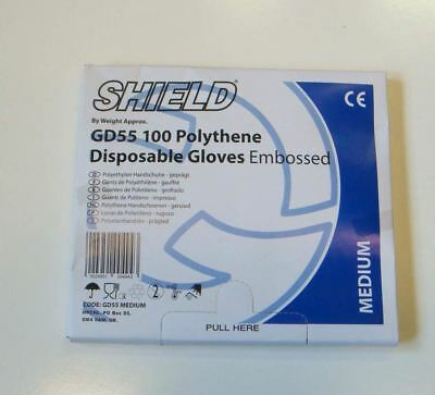 Boxed Disposable Polythene Gloves per 500 medium clear Food Safe