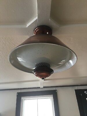 Vtg 50's Mid Century Copper Ceiling  Light Fixture  Old   92-18J