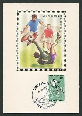 ANDORRA MK 1986 FUßBALL-WM FOOTBALL SOCCER MAXIMUMKARTE MAXIMUM CARD MC CM d314