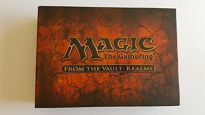 """Mtg From The Vault """" Realms """" Mint Unopened With Card Outer"""